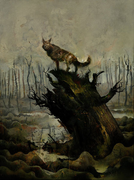 Dave McKean, Black Dog. The Dreams of Paul Nash, 2016, Titelmotiv