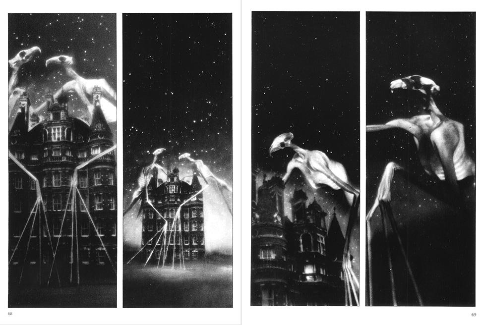 Dave McKean, Cages, 1990, Doppelseite 68/69